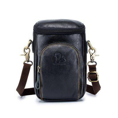 LAOSHIZILUOSEN Genuine Leather Men's Hanging Bag