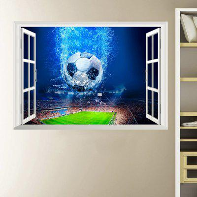 Faux Window Football 3D Home Background Decoration Verwijderbare Sticker