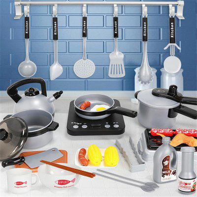 Children Play House Kitchen Toys Cooking Cookware Ware Suit 36Pcs