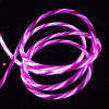 1m LED Glowing Mobile Phone USB Type C Charging Data Sync Cable - PINK