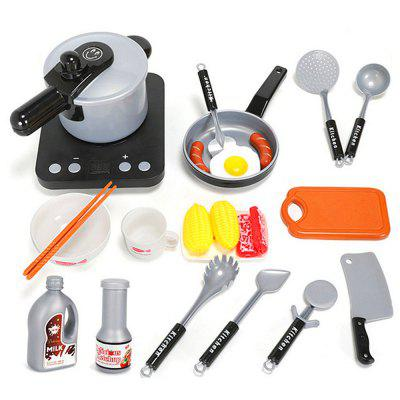 Children Play House Kitchen Toys Cooking Cookware Set 24PCS