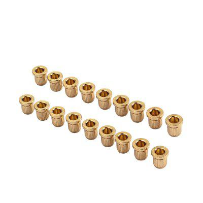 Gold String Ferrules Bushings for Guitar  18PCS