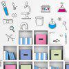 Science Chemistry Element Laboratory Home Background Verwisselbare Sticker - MULTI-A