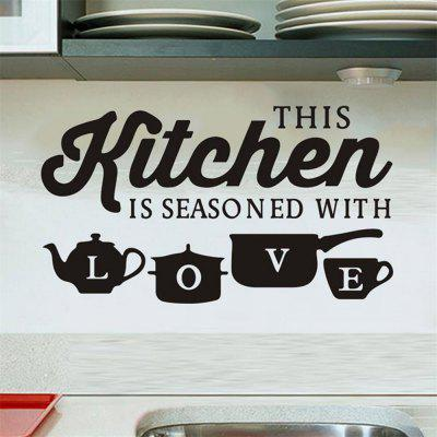 Kitchen Love Restaurant Home Background Wall Decoration Removable Stickers
