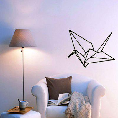 Geometric Paper Crane Carved Home Background Wall Decoration Removable Stickers