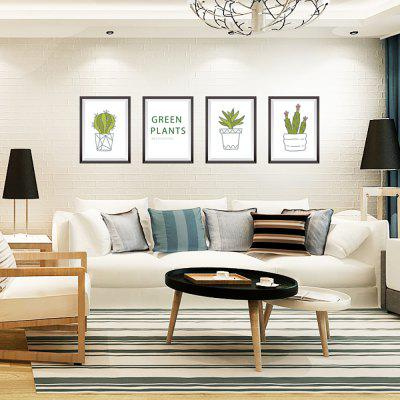 Cactus Potted Frame Frame Background Home Decorare Removable Sticker