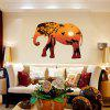 Sunset Elephant Forest Silhouette Home Background Decoration verwijderbare sticker - MULTI-A