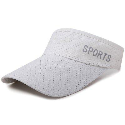 Sun Protection Sports Tennis Cap Topless Sun Hat + Adjustable for 56-60CM