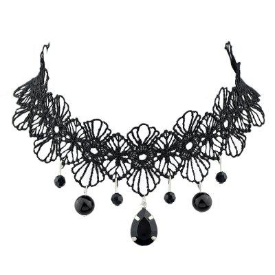 Black Lace Flower Tattoo Choker Necklaces