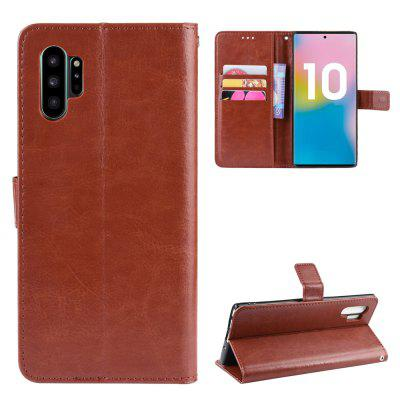 Crazy Horse PU Leather Phone Case For Samsung Galaxy Note 10 Pro, Black;red;brown;gold
