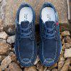 Men Casual Breathable Non-Slip Canvas Shoes - DENIM DARK BLUE