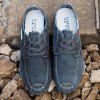 Men Casual Breathable Non-Slip Canvas Shoes - CARBON GRAY