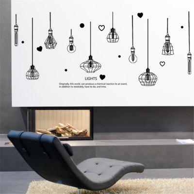 Black and White Chandelier Home Background Wall Decoration Removable Sticker