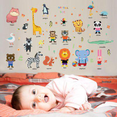 Cute Stickers Animal Stickers Acasă fundal de perete Decorare Removable Stickers