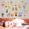Cute Animal Stickers Stickers Home Background Wall Decoration Removable Stickers - MULTI-A