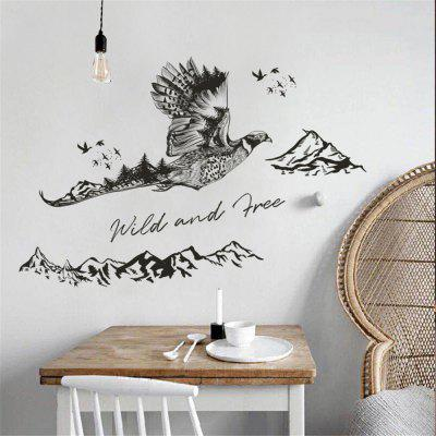 Ink Flying Eagle Mountain Home Background Wall Decoration Removable Stickers