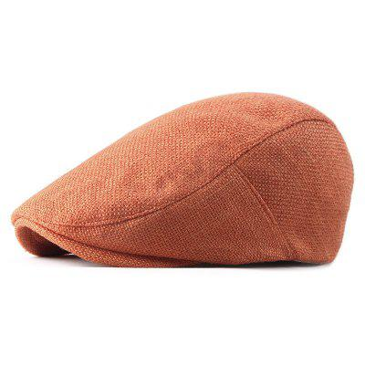 Cotton and Linen Breathable Cap Beret + Adjustable for 55-59CM
