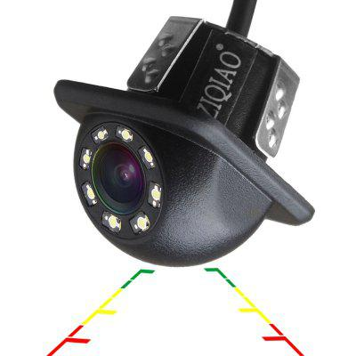ZIQIAO Car Rear View Camera Universal Backup Parking Camera 8 LED Night Vision
