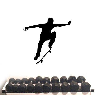 Skateboard Male Fitness Exercise Inspirational Pattern Home Decoration Wall Sticker