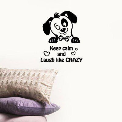 Cane Keep Calm Pattern Home Background Decorazione Wall Sticker Removable Sticker
