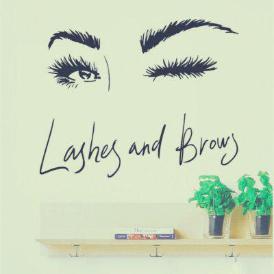 Lashes Eye Home Background Nástenné dekorácie Wall Sticker Removable Sticker