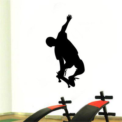 Skateboard Male Fitness Exercise Inspirational Pattern Home Decoration Wall Stickers