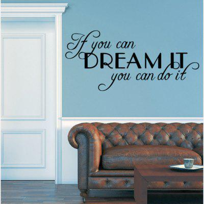 Dream English Rumors Home Decoration Wall Stickers Removable Stickers