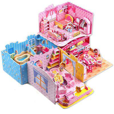 3D Puzzle Doll House Furniture Jigsaw Puzzle Kits de modelo