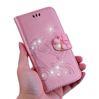 Bling Strass Diamond Leather Wallet Phone Case für Huawei Mate 20 Lite Fall