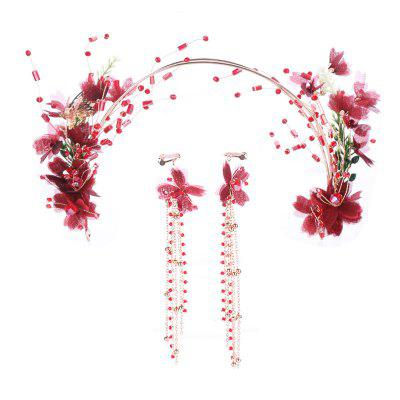 FEIS Fashion Flower e Butterfly Headdress Decoration Set
