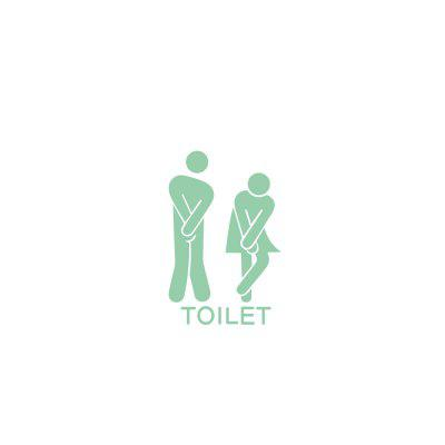 Luminous Men and Women Toilet Stickers Home Decoration Removable Stickers