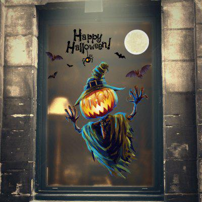Halloween Happy PVC Window Film Wall Sticker For Home Decoration
