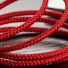 3 in 1 Fishing Net Magnetic USB Charge Cable for iPhone / USB-C / Micro USB - RED