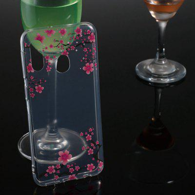 Plum Transparent Painted TPU Phone Case for Samsung Galaxy A20e