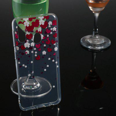 Love Transparent Painted TPU Phone Case for Samsung Galaxy A20e