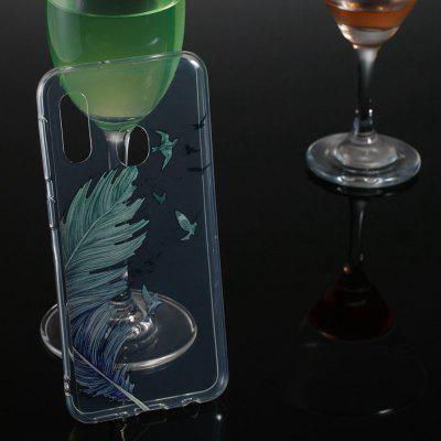 Feather Transparent Painted TPU Phone Case for Samsung Galaxy A20e