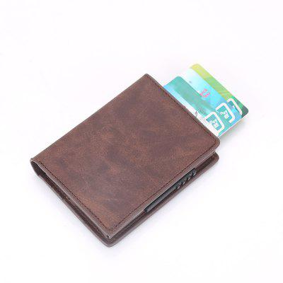 Abrasive Leather Wallet Creative Aluminum Card Bag