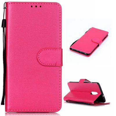 Solid Color Pattern Wallet Style Leather Phone Case for OnePlus 7