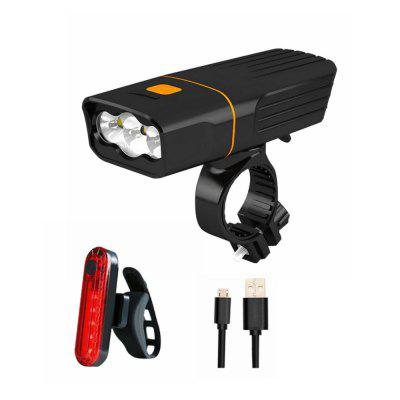 ZHISHUNJIAT High-light Bicycle Headlights and Taillights USB Charging Lamp