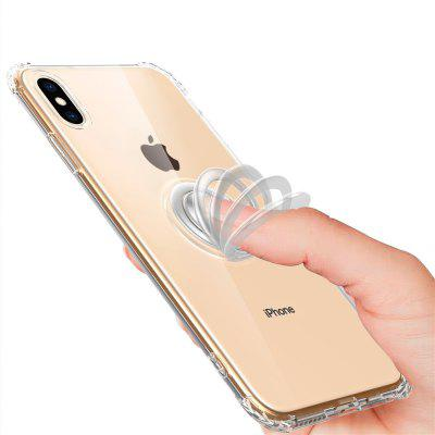 Invisible Bracket Clear Silicone Phone Case for iPhone X Max