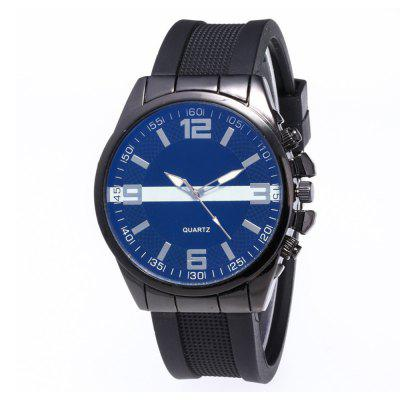 Casual Fashion Men Chronograph Silicone Quartz Watch