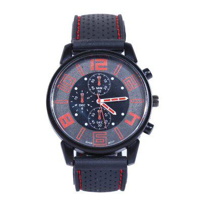 Fashion Creative Men Chronograph Silicone Quartz Watch
