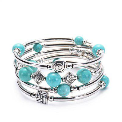 Natural Turquoise Winding Bracelet