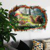 Nuevo 3D Broken Wall Snail Home Background Decoración Pegatina extraíble - MULTICOLOR-A