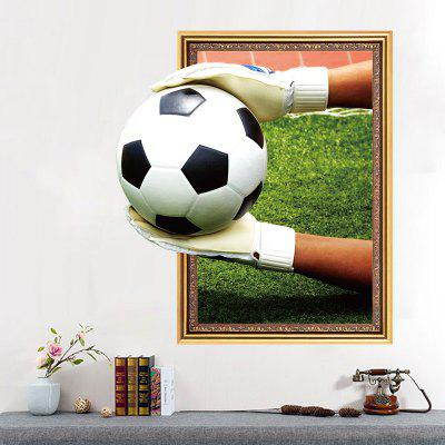 Football Theme 3D Home Background Decoration Removable Sticker