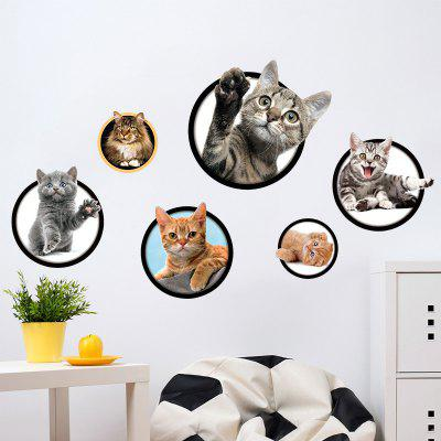 New 3D Kitty Kindergarten Home Background Decoration Removable Sticker