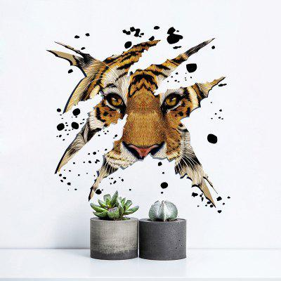 New 3D Tiger Head Home Background Decorative Wall Stickers Removable Stickers