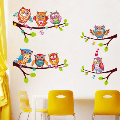 New Owl Home Background Wall Decoration Wall Sticker Removable Sticker