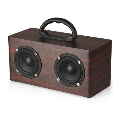Portable Wooden  Wireless Bluetooth 4.2 Speaker  Super Bass Soundbar FM TF