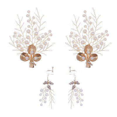 FEIS Simple Leaf Hairpin Kopfschmuck Deko-Set (Handarbeit)
